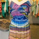 Peach Love Cream stripe dress $49.95